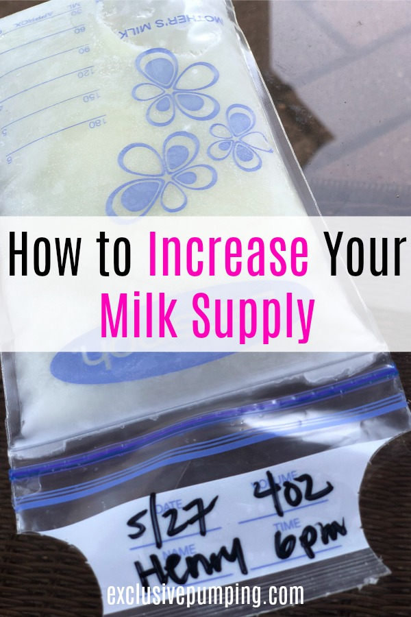 increase milk supply when pumping