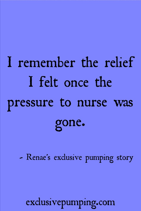 Renae's Exclusive Pumping Story