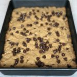 Peanut butter chocolate chip lactation cookie bars