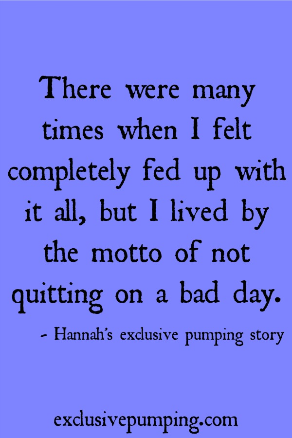Hannah's Exclusive Pumping Story