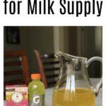 Lactation Lemonade for Milk Supply