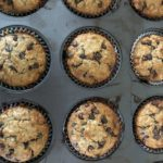 Chocolate Chip Lactation Muffins in the muffin pan