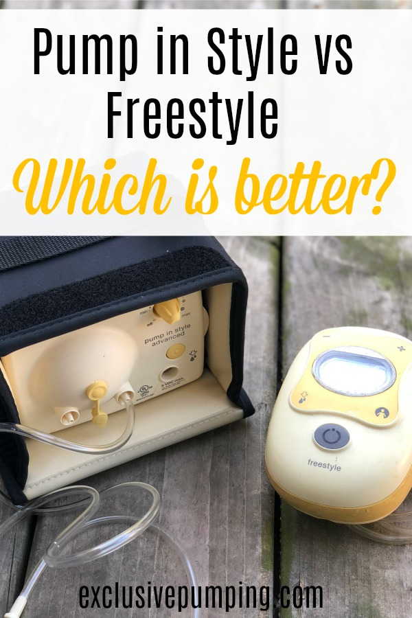 Medela freestyle vs. pump in style