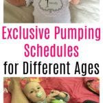 Exclusive Pumping Schedule for Different Ages