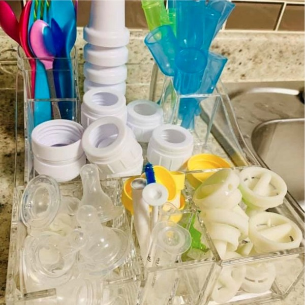 Cosmetic Organizer for Bottle Station Tips for Organizing Bottles and Pump Parts