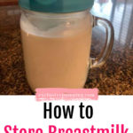 How to Store Breastmilk in a Pitcher