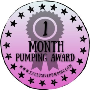 One Month Pumping Award