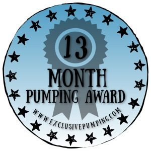 13 Month Pumping Award