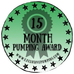15 Month Pumping Award