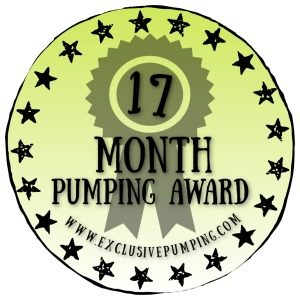 17 Month Pumping Award