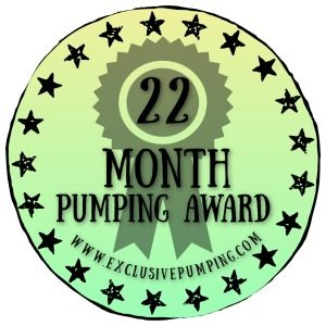 22 Month Pumping Award