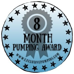 Eight Month Pumping Award