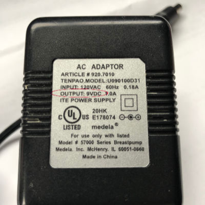 Medela Power Adaptor