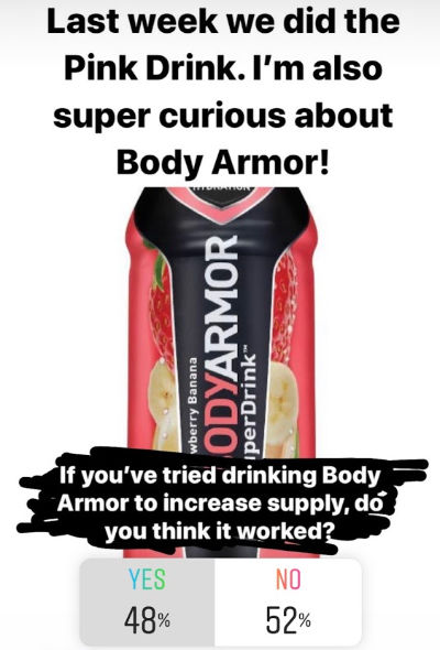 Does Body Armor Increase Milk Supply? 48% yes