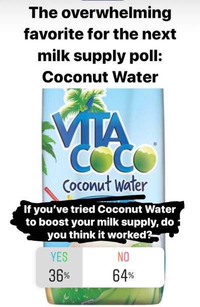Does Coconut Water Increase Milk Supply? 36% yes