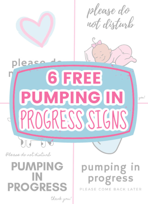 6 FREE Pumping In Progress Signs