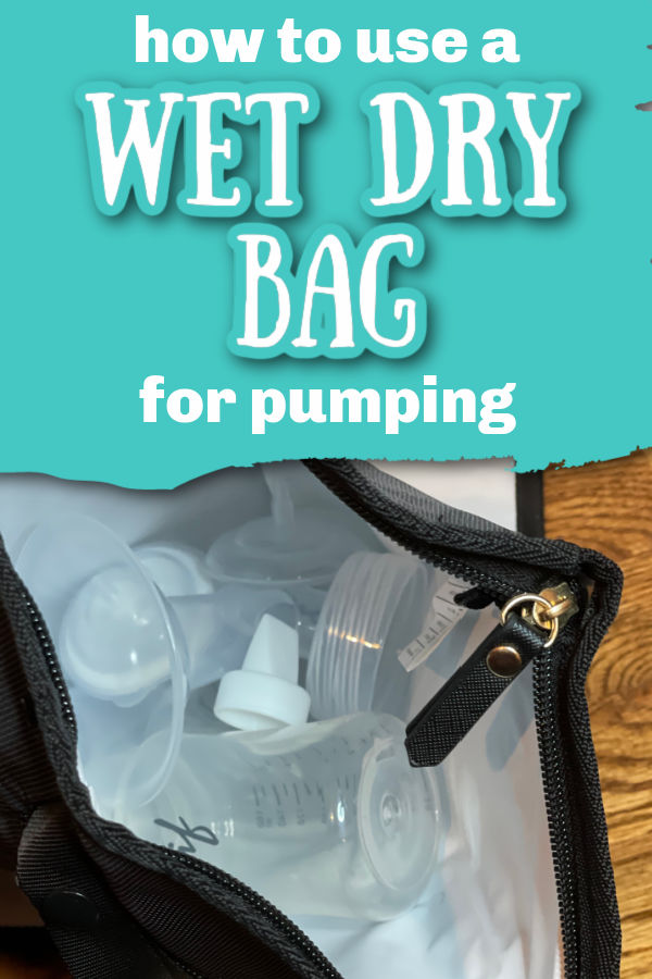 How to Use a Wet Dry Bag for Pumping | Black Idaho Jones Wet Dry bag with Motif Luna pump parts in it