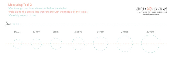 ruler for measuring breast shield size