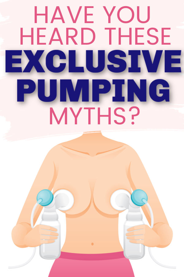 Have You Heard These Exclusive Pumping Myths? Woman holding up breast pump parts to breasts
