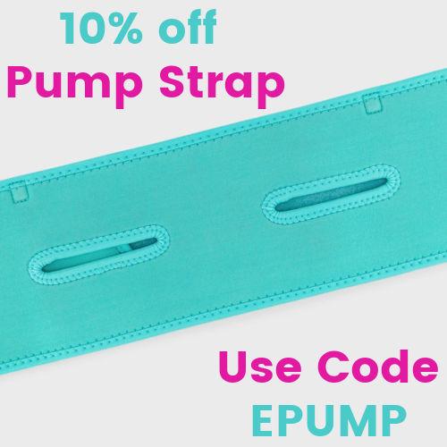 Teal Hands-free Pump Strap | 10% off Pump Strap Use Code EPUMP