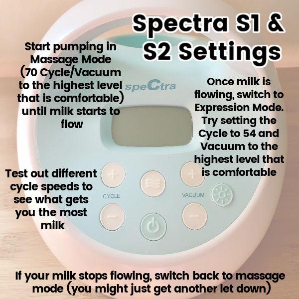 Spectra S1 & S2 Settings