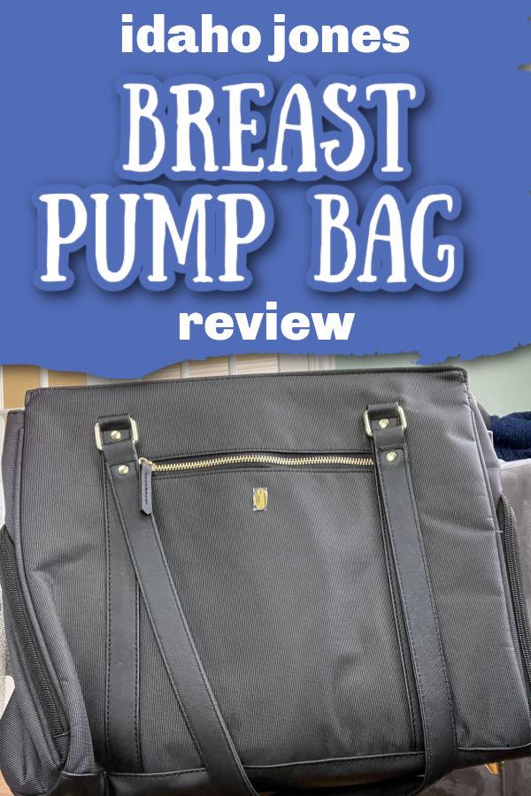 Idaho Jone Breast Pump Bag Review   Black Idaho Jones tote bag