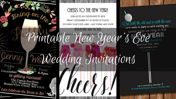 New Year 39 S Eve Wedding Invitations