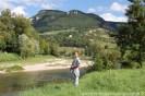 Vue depuis le camping à Millau.