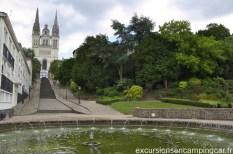 Vue sur la cathédrale Saint-Maurice d'Angers