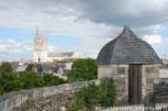Autre vue sur la vieille cité d'Angers et la cathédrale St Maurice d'Angers depuis les remparts
