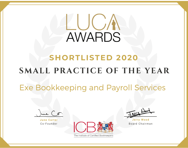 Exe Bookkeeping and Payroll Services small practice of the year nomination