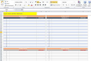 Basic SWOT Matrix Template