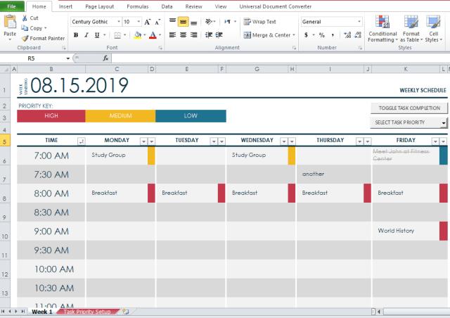 College Class Schedule MAker