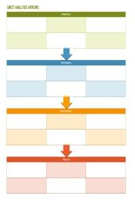SWOT Analysis Arrow Template