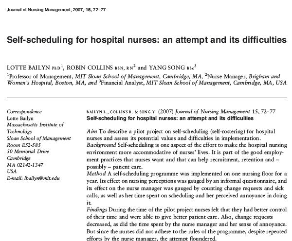 Nursing Staff Schedule Manual PDF