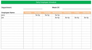 Wmployee work schedule maker