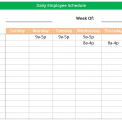 Wmployee work schedule maker