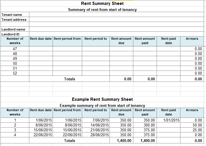Free Rent Payment Tracker Template
