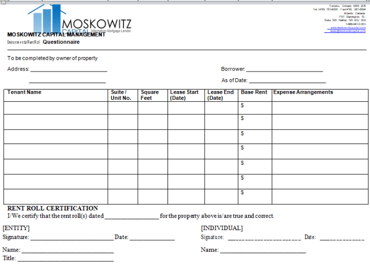 Free Rent Payment Tracker MS Word Template