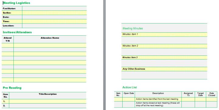 meeting agenda template in word