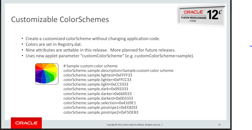 Customizable ColorSchemes in Oracle Forms 12c