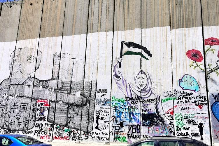 Graffiti of the West Bank Barrier in Bethlehem