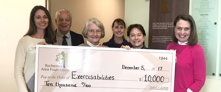 Rochester Area Foundation Grant will Help to Start Pediatric Program at Exercisabilities