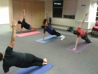 Staff at Girl Guiding UK enjoying an after work Pilates class
