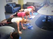 MCF - Pilates class in their office