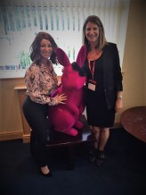 Exercise in the City Founder, Julia Scodie, with Jacqueline Gold at Ann Summers HQ
