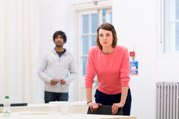 Rudi Darmalingam (Cole) and Jessica Raine (Gilda). Photo: Manuel Harlan.
