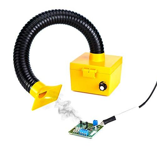 110 Volt with spare filter//Soldering Smoke ESD Benchtop Fume Extractor