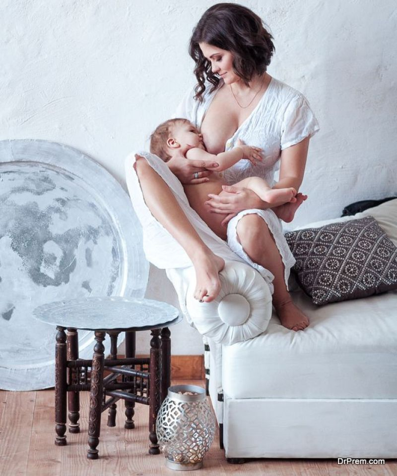 Baby is protected against obesity through breastfeeding