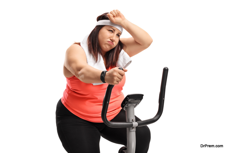 Weight loss through a particular exercise